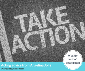 Acting advice from Angelina Jolie