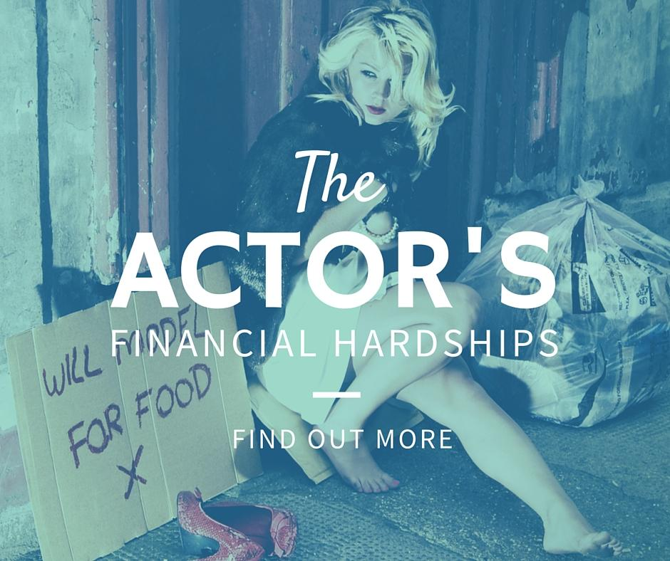 The actors financial hardships