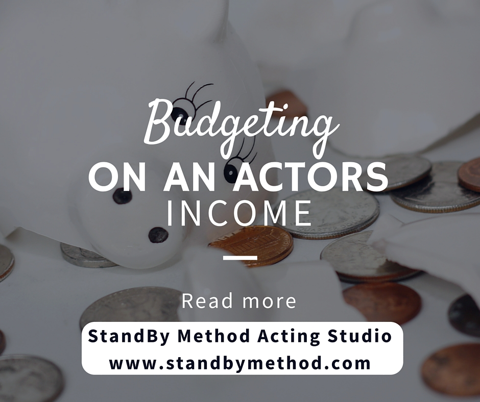 Budgeting on an actors income