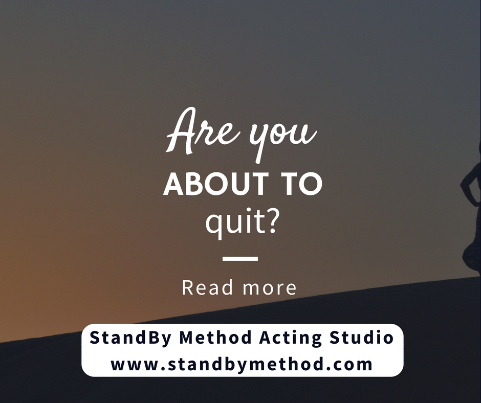 Are you about to quit?