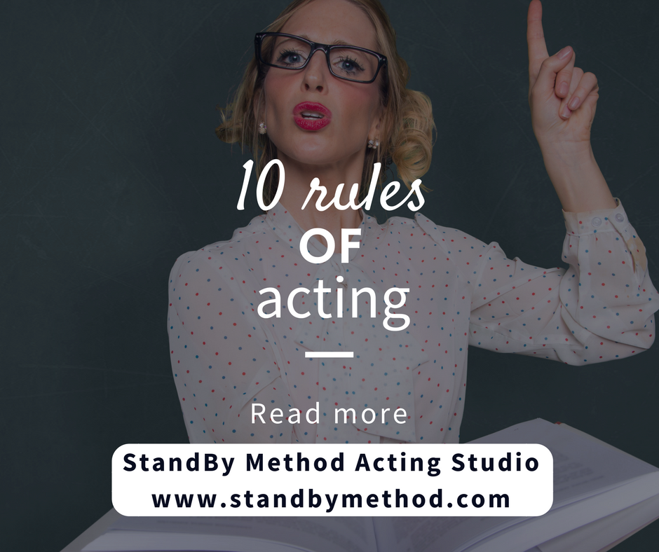 10 rules of acting